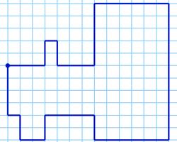 Графический диктант — Трактор по клеточкам