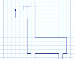 Графический диктант Жираф по клеточкам
