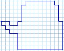 Графический диктант Чайник по клеточкам