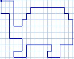 Графический диктант Черепаха по клеточкам