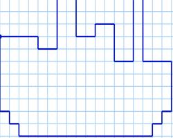 Графический диктант Корабль по клеточкам