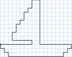 Графический диктант Кораблик по точкам