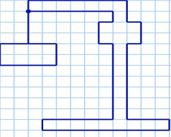 Графический диктант Подъемный кран по клеточкам
