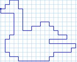 Графический диктант Лебедь по клеточкам