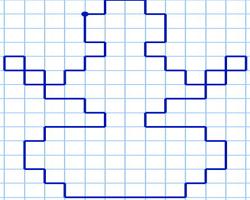 Графический диктант Снеговик по клеточкам