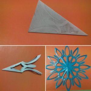 Снежинки на Новый Год из бумаги